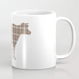 Cow: Brown Plaid Coffee Mug