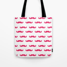 Mustaches For Girls - Pink Mustaches Tote Bag