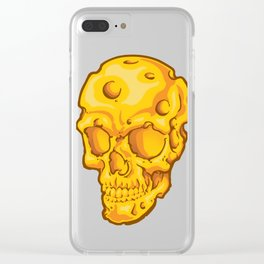 Cheesehead Skull Clear iPhone Case