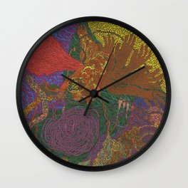 Stay in the Circus Wall Clock