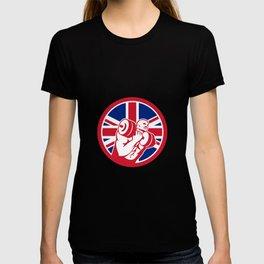 British Gym Circuit Union Jack Flag Icon T-shirt