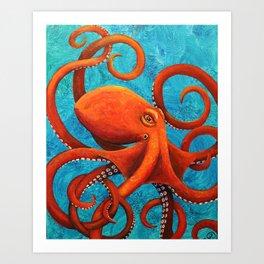 Holding On - Octopus Art Print