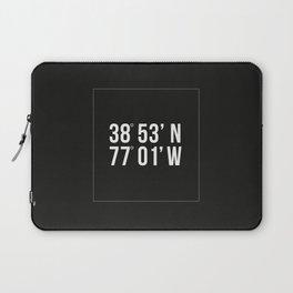 DC Coordinates Laptop Sleeve
