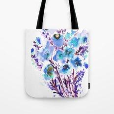 Bouquet Blue Tote Bag