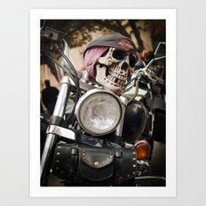 Happy rider  Art Print