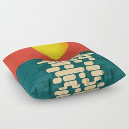 Sun Over The Sea - Afternoon Floor Pillow