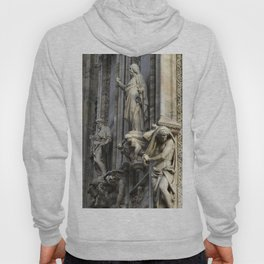Milan Duomo Cathedral Sculpture Sudy, Italy Hoody