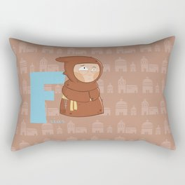 f for friar Rectangular Pillow