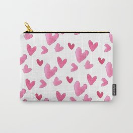 Be my valentine blush pink vector romantic heart pattern Carry-All Pouch