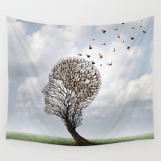 People Tree Wall Tapestry