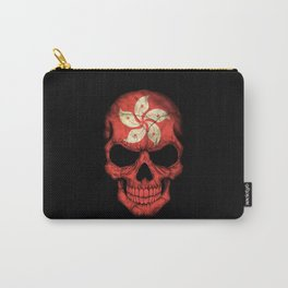 Dark Skull with Flag of Hong Kong Carry-All Pouch