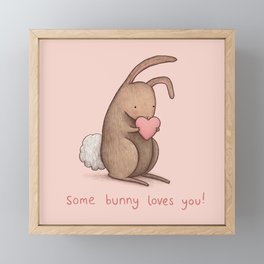 Some Bunny Loves You Framed Mini Art Print