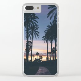 SUNRISE - SUNSET - PALM - TREES - NATURE - PHOTOGRAPHY Clear iPhone Case