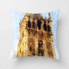 Seville, Giralda Throw Pillow