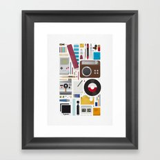 Stuff (white background) Framed Art Print