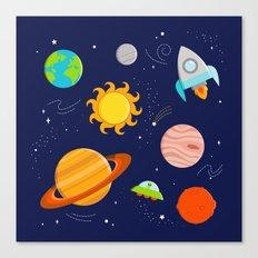 Planet Party Canvas Print