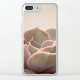 Pink Echeveria #2 Clear iPhone Case