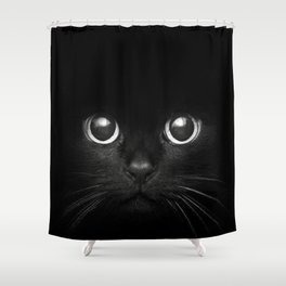 Black Cats are Good Luck Shower Curtain
