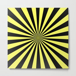Starburst (Black & Yellow Pattern) Metal Print
