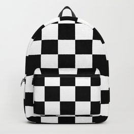 Checkered (Black & White Pattern) Backpack