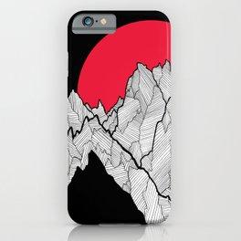 Line peaks iPhone Case