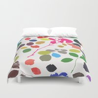 waldo Duvet Covers featuring wildrose 1 by Garima Dhawan