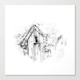 icelandic turf house Canvas Print