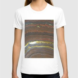 mineral stone colorful lines T-shirt