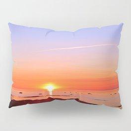 Kayak Silhouette at Sunset Pillow Sham