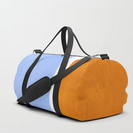 Pastel Royal Blue Yellow ochre Mid Century Modern Abstract Minimalist Rothko Color Field Squares Duffle Bag