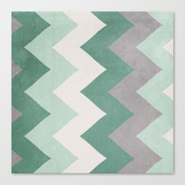Wintergreen - Chevron Canvas Print