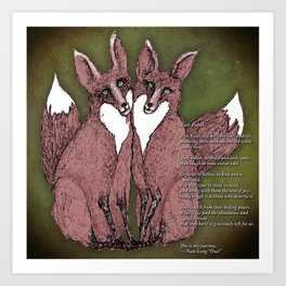 Two Foxes - B Art Print