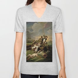 John Singleton Copley's Watson and the Shark Unisex V-Neck