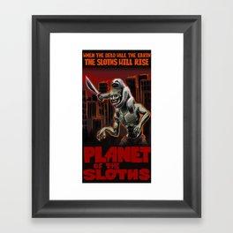 Planet Of The Sloths Framed Art Print