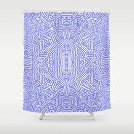 Radiate (Periwinkle) Shower Curtain