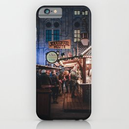 Christmas market iPhone Case