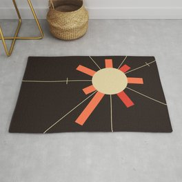 paper sun || charcoal Rug