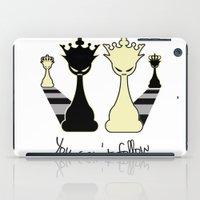 feminism iPad Cases featuring Chess Game Women Power - Feminism by La Gata Venenosa