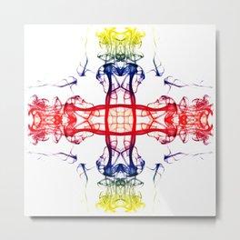 Smoke Cross 4 Metal Print