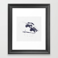 When i was a little girl, i didn't like to play with dolls Framed Art Print