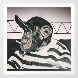 Smoking Monkey Art Print