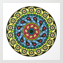 Patience Mandala Art Print
