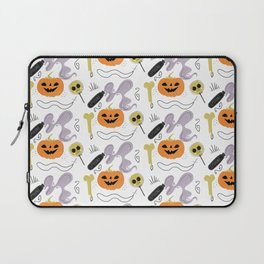 Happy halloween pumpkins, poison, bones and candies pattern Laptop Sleeve