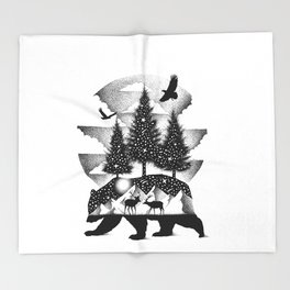 A NIGHT IN ALASKA Throw Blanket