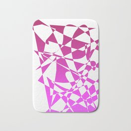 geometical pink abstract shapes Bath Mat