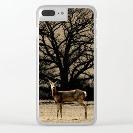 Rustic Deer Tree Modern Country Cottage Chic Farmhouse Art A587 Clear iPhone Case