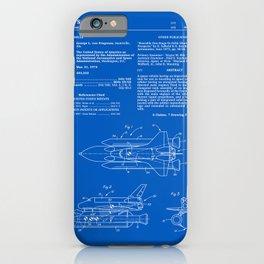 Space Shuttle Patent - Blueprint iPhone Case