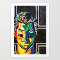 tim shumate Art Prints featuring Tim Tebow by Kelsey Gilman7