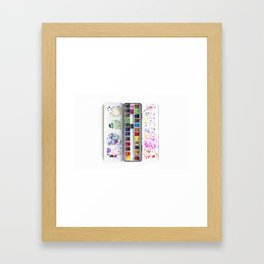 Messy Watercolor Painting Palette Photograph Framed Art Print