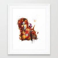 lara croft Framed Art Prints featuring Lara Croft by ururuty